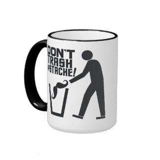 Trash Stache mug - choose style & color