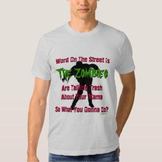 Trash Talking Zombies Funny T-Shirt