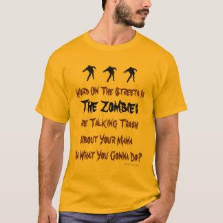 Trash Talking Zombies T-Shirt (Mustard)