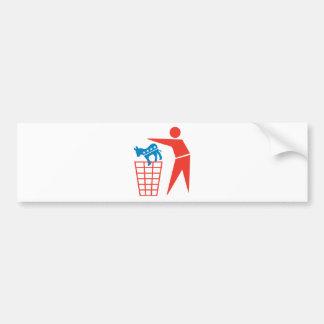 Trash the Democrats in 2012 Car Bumper Sticker