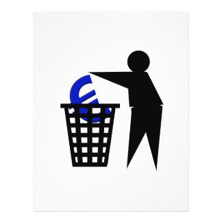 "Trash the Euro 8.5"" X 11"" Flyer"