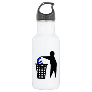 Trash the Euro Stainless Steel Water Bottle