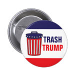 Trash Trump Red, White, & Blue Waste Can Political Pinback Button
