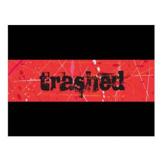Trashed Postcard