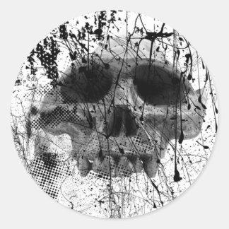 Trashed Skull Grunge Gothic Skull Stickers