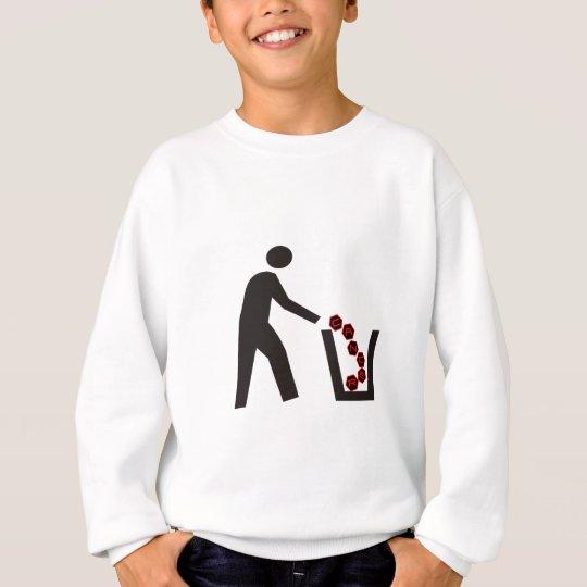 Trashing Cancer Sweatshirt