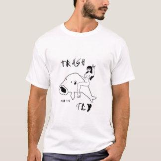 trashonthefly white logo shirt