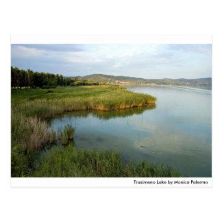 Trasimeno lake post card