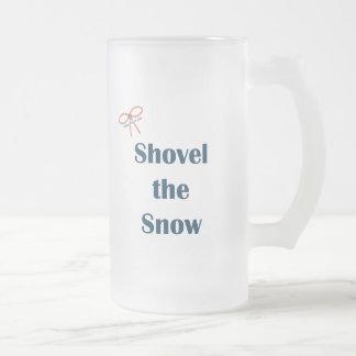 Traspale los recordatorios de la nieve taza de cristal