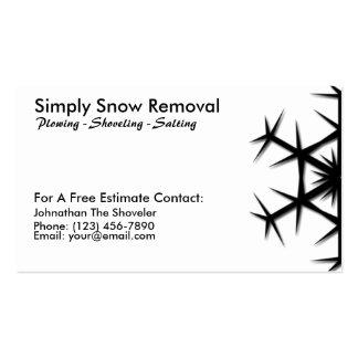 Traspaleo simple de la nieve, arando, tarjeta del tarjetas de visita