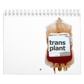trasplante calendarios de pared
