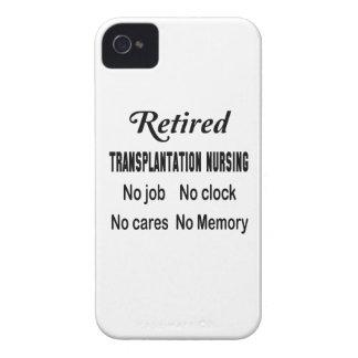 Trasplante jubilado no cuidando ningún trabajo Case-Mate iPhone 4 cárcasa