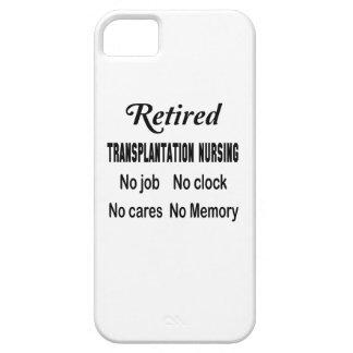 Trasplante jubilado no cuidando ningún trabajo iPhone 5 carcasa
