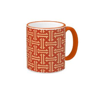 Traste chino del art déco, mandarina taza de dos colores