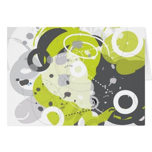 Trasto - tarjeta abstracta Retro-Moderna