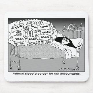 Trastorno del sueño para los contables del impuest tapete de ratón