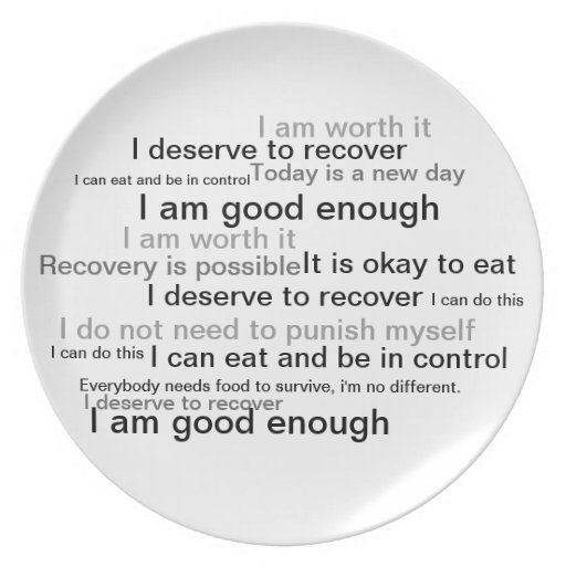 Trastornos alimentarios de la placa de la recupera plato