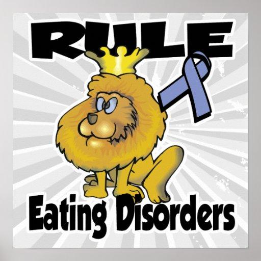 Trastornos alimentarios de la regla poster