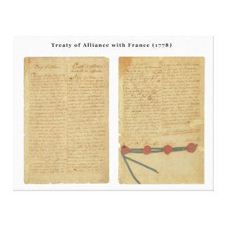 Tratado de Alliance con Francia Impresión En Lona