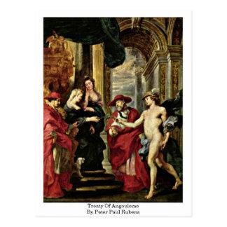 Tratado de Angulema de Peter Paul Rubens Postal