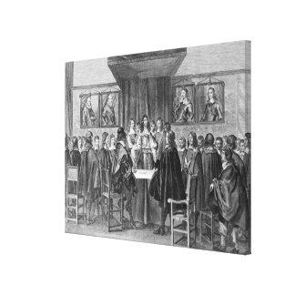 Tratado de Breda, el 31 de julio de 1667 Impresiones En Lienzo Estiradas