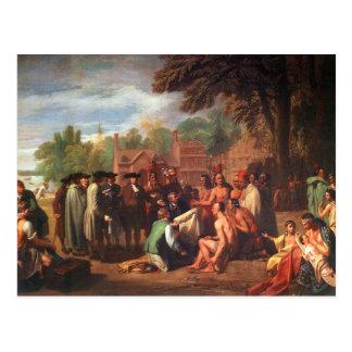 Tratado de Penn con los indios Postal