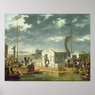 Tratado de Tilsitz 1807 Poster