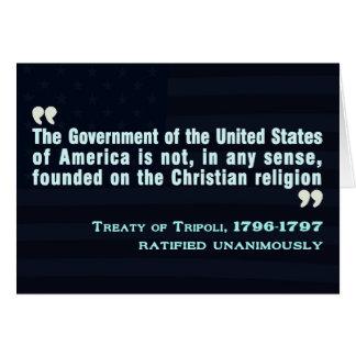 Tratado de Trípoli, 1796-97 Tarjeta