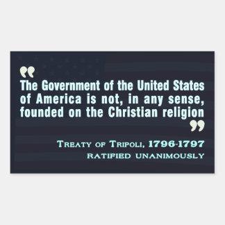 Tratado de Trípoli, pegatina 1796-97