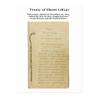 Tratado ORIGINAL del Stat de Gante 8. 218 1814 Tarjeta Postal