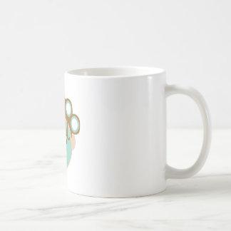 Tratamiento de la belleza taza básica blanca