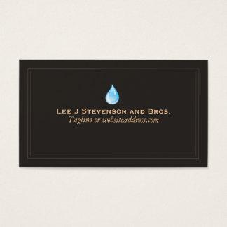 Tratamiento del fontanero del logotipo del tarjetas de visita