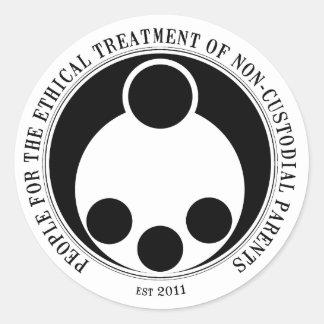 Tratamiento ético de padres No-De la custodia Pegatina Redonda