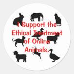 Tratamiento ético etiquetas redondas