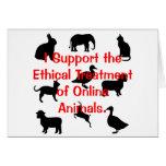 Tratamiento ético tarjeta