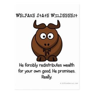 Tratan al estado del bienestar a su bienestar postales