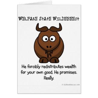Tratan al estado del bienestar a su bienestar tarjeta de felicitación