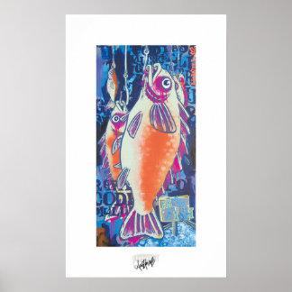 Tratante de pescados póster