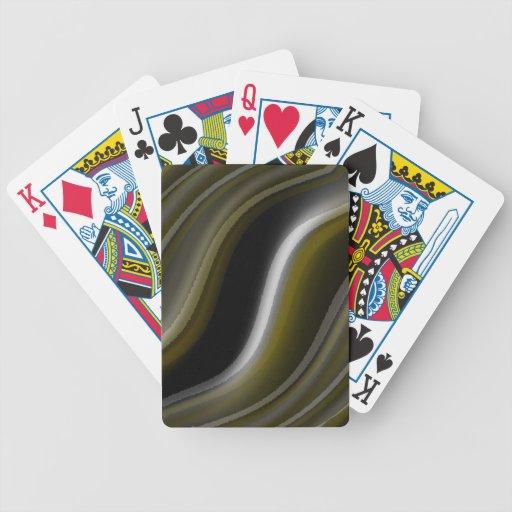 trate el astract marrón del oro con suavidad de la cartas de juego