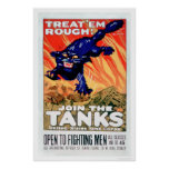 ¡Trátelos ásperos!  Únase a los tanques (US02077A) Impresiones