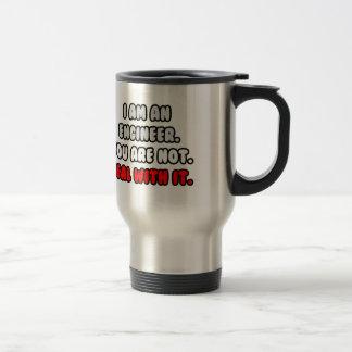 Trato con él… ingeniero divertido taza de café