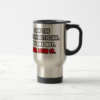 Trato con él… matemático divertido taza de café