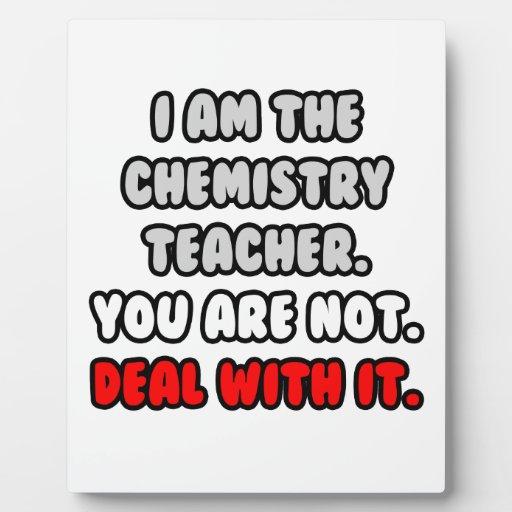 Trato con él… profesor divertido de la química placas de madera