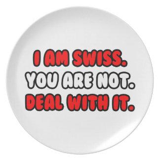 Trato con él… suizo divertido platos