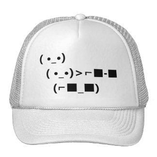 Trato de las gafas de sol del ASCII Unicode con él Gorras De Camionero