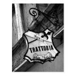 Trattoria Sign Postcard Post Card
