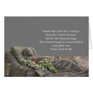 Trauerkarte mit junger Frau Grußkarten