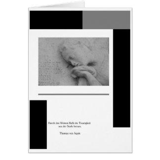 Trauerkarte Weinende Frau Mit Spruch Karten