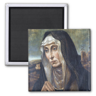 Trauernde Madonna 2 Inch Square Magnet
