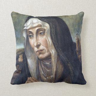 Trauernde Madonna Throw Pillow